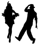 Jazz Dancer Pair Decal Sticker