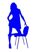 Girl on Chair v1 Decal Sticker