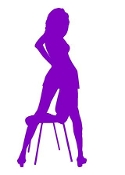 Girl on Chair v3 Decal Sticker