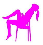 Girl on Chair v4 Decal Sticker