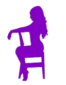 Girl on Chair v5 Decal Sticker