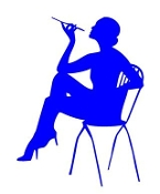 Girl on Chair v6 Decal Sticker
