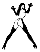 Stripper Girl v5 Decal Sticker