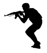 Soldier Silhouette v18 Decal Sticker