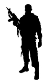 Soldier Silhouette v19 Decal Sticker