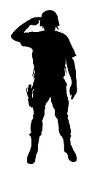 Soldier Silhouette v6 Decal Sticker