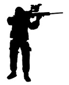 Soldier Silhouette v7 Decal Sticker