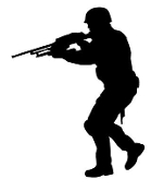 Soldier Silhouette v8 Decal Sticker