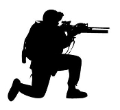 Soldier Silhouette v9 Decal Sticker