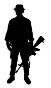 Soldier Silhouette v10 Decal Sticker