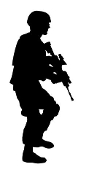 Soldier Silhouette v12 Decal Sticker