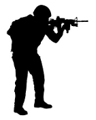 Soldier Silhouette v13 Decal Sticker
