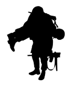 Soldier Silhouette v15 Decal Sticker