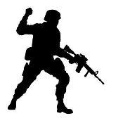Soldier Silhouette v16 Decal Sticker