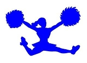 Cheerleader Silhouette 4 Decal Sticker