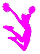 Cheerleader Silhouette 6 Decal Sticker