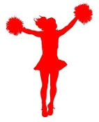 Cheerleader Silhouette 7 Decal Sticker