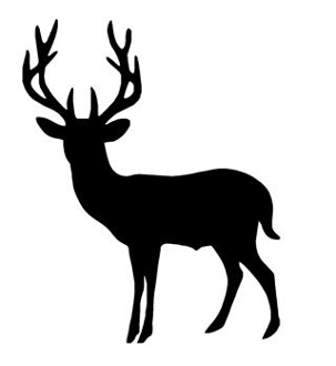 Deer Silhouette v5 Decal Sticker