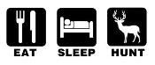 Eat Sleep Hunt v2 Decal Sticker