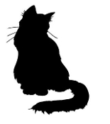 Cat Silhouette v5 Decal Sticker