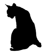 Cat Silhouette v7 Decal Sticker