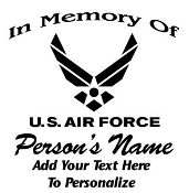 Air Force Memorial Decal Sticker