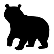 Bear Silhouette v6 Decal Sticker