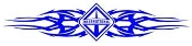 International Diesel Tribal Decal Sticker