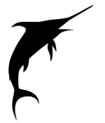 Swordfish Silhouette v2 Decal Sticker