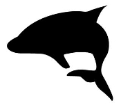 Whale Silhouette v3 Decal Sticker