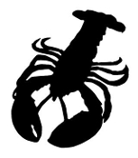 Lobster Silhouette v1 Decal Sticker