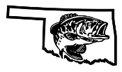 Oklahoma Bass Fishing Decal Sticker