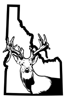 Idaho Deer Hunting v2 Decal Sticker