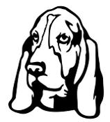 Bassett Hound Head Decal Sticker