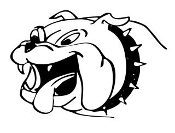 Bulldog Head v5 Decal Sticker