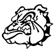 Bulldog Head v6 Decal Sticker