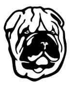 Chinese Shar Pei Head Decal Sticker