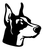 Doberman Head v3 Decal Sticker