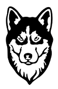 Siberian Husky Head v2 Decal Sticker