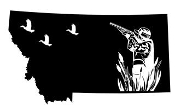 Montana Duck Hunting Decal Sticker