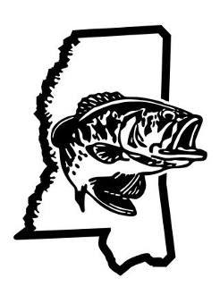 Mississippi Bass Fishing Decal Sticker