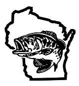 Wisconsin Bass Fishing Decal Sticker