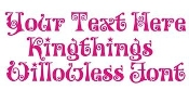 Kingthings Willowless Font Decal Sticker