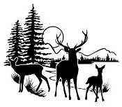 Deer Scene v2 Decal Sticker