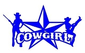 Cowgirl Star v3 Decal Sticker