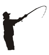 Fisherman Silhouette v5 Decal Sticker
