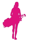 Female Golfer Silhouette v5  Decal Sticker