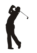 Golfer Silhouette v9  Decal Sticker