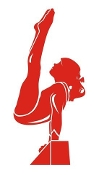 Gymnast Girl Beam Decal Sticker