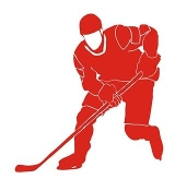 Hockey Player v5 Decal Sticker